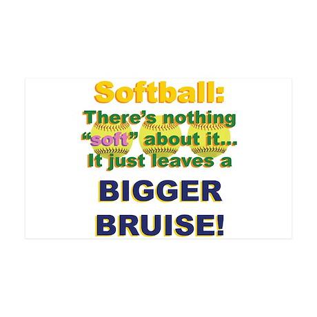 Softball = Not Soft 38.5 x 24.5 Wall Peel