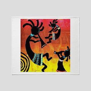 Dance of the Kokopelli Throw Blanket