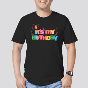 It's My Birthday Letters Men's Fitted Tee (dark)