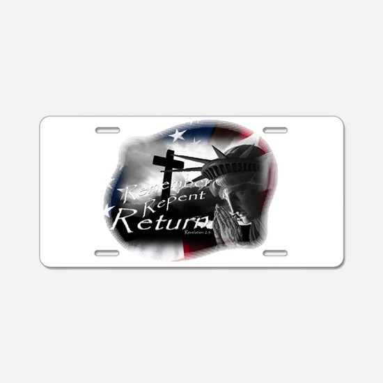 Cute Return Aluminum License Plate