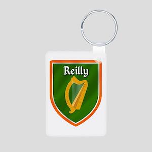 Reilly Family Crest Aluminum Photo Keychain