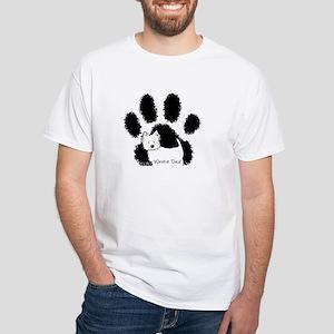 Westie DAD White T-Shirt