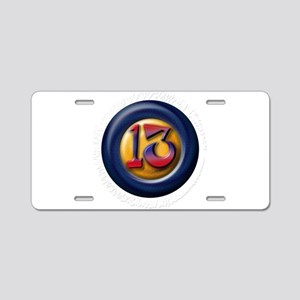 13 Aluminum License Plate