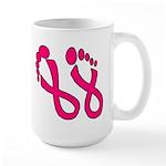 Pink Ribbon Feet Large Mug