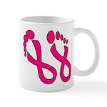Pink Ribbon Feet Mug