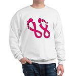 Pink Ribbon Feet Sweatshirt