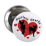 "2.25"" Button - Hairless Hearts"