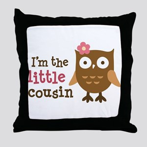 Little Cousin - Mod Owl Throw Pillow