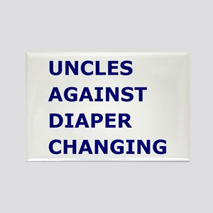 Uncles Against Diaper Changing Rectangle Magnet