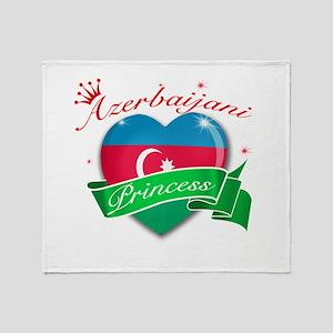Azerbaijani Princess Throw Blanket