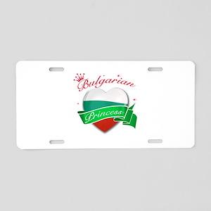 Bulgarian Princess Aluminum License Plate