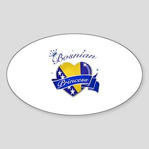 Bosnian Princess Sticker (Oval)