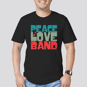 Peace Love Band Men's Fitted T-Shirt (dark)