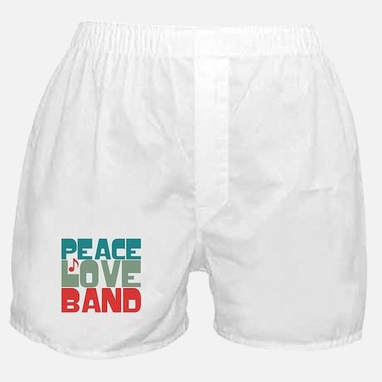 Peace Love Band Boxer Shorts