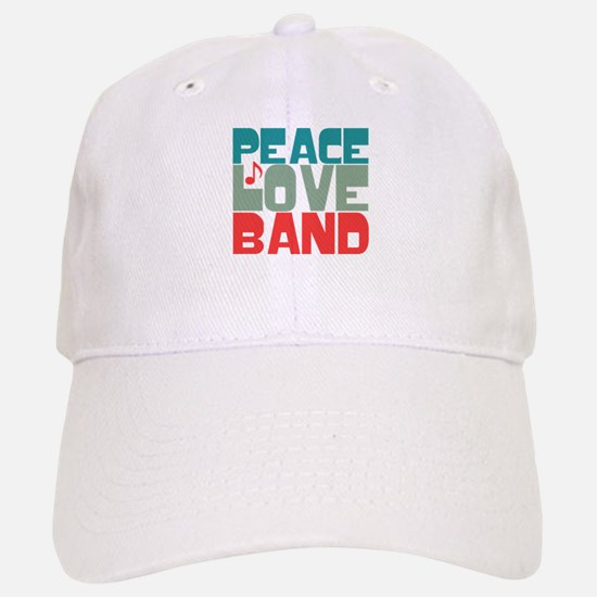 Peace Love Band Baseball Baseball Cap