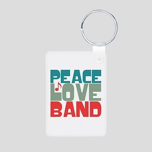 Peace Love Band Aluminum Photo Keychain