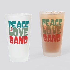 Peace Love Band Drinking Glass