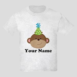 Personalized Birthday Monkey Kids Light T-Shirt