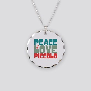 Peace Love Piccolo Necklace Circle Charm