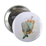 """Blue Stockings pinup girl 2.25"""" Button (100 p"""