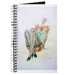 Blue Stockings pinup girl Journal