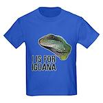 I Is For Iguana Kids Dark T-Shirt