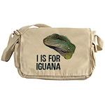 I Is For Iguana Messenger Bag