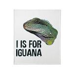 I Is For Iguana Throw Blanket