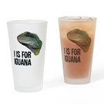 I Is For Iguana Drinking Glass