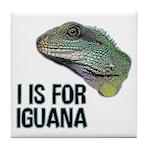 I Is For Iguana Tile Coaster