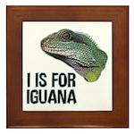 I Is For Iguana Framed Tile