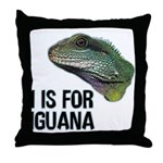 I Is For Iguana Throw Pillow
