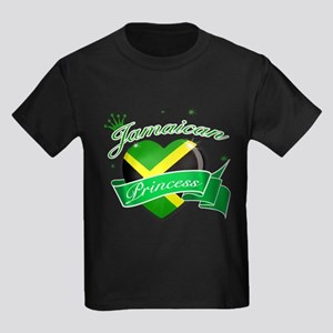 Jamaican Princess Kids Dark T-Shirt