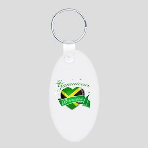 Jamaican Princess Aluminum Oval Keychain