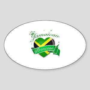 Jamaican Princess Sticker (Oval)