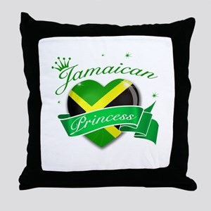 Jamaican Princess Throw Pillow