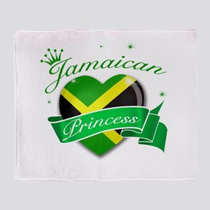 Jamaican Princess Throw Blanket
