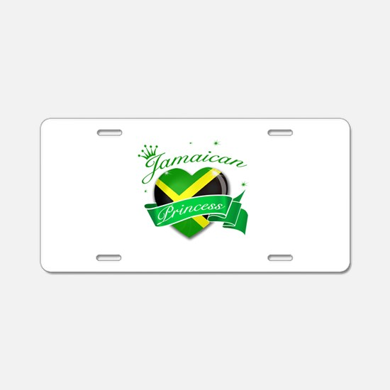 Jamaican Princess Aluminum License Plate