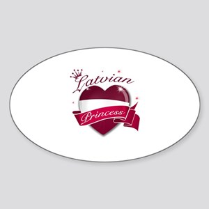 Latvian Princess Sticker (Oval)