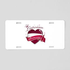Latvian Princess Aluminum License Plate