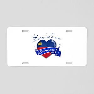 Liechtensteinerin Princess Aluminum License Plate