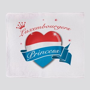 Luxembourgers Princess Throw Blanket