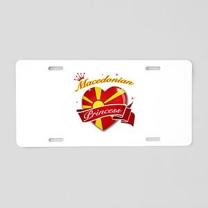 Macedonian Princess Aluminum License Plate
