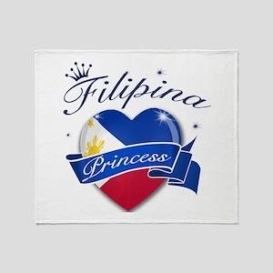 Filipino Princess Throw Blanket