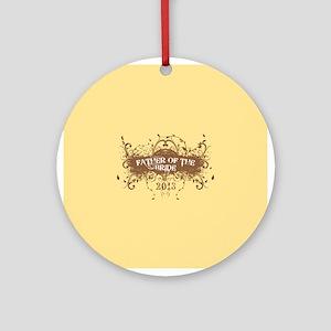 2013 Grunge Bride Father Ornament (Round)
