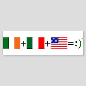 Happy Irish American Sticker (Bumper)