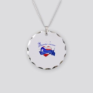 Puertorican Princess Necklace Circle Charm