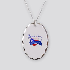 Puertorican Princess Necklace Oval Charm