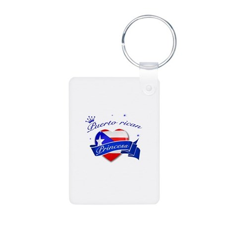 Puertorican Princess Aluminum Photo Keychain