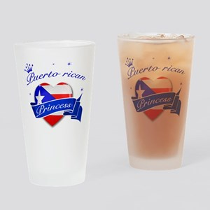 Puertorican Princess Drinking Glass